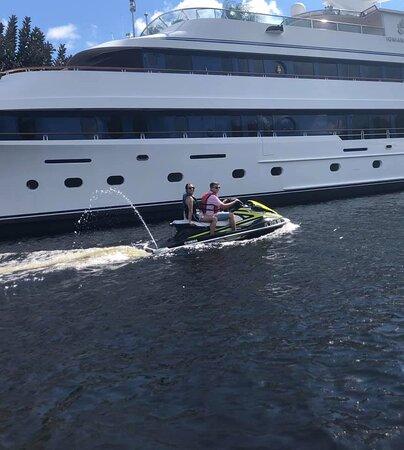 3 hour jet ski tour, explore million dollar yachts!