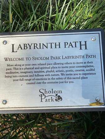 Signs along the labyrinth path