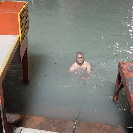 Holy dip at Brahmkund on Har ki Pauri Haridwar