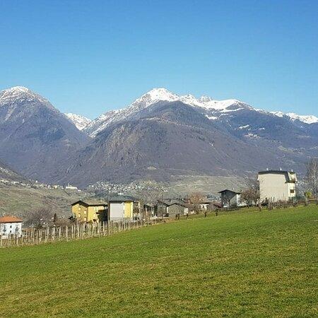 Albosaggia, İtalya: Vista dall'agriturismo Stella Orobica 🍃🌳🍃