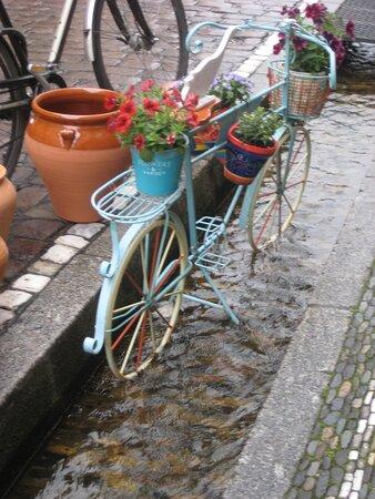 Abstellplatz für ein Fahrrad