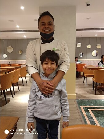 Chef Roshan...Amazing person and makes mouth-watering delicacies and especially his spread of desserts are awesome.