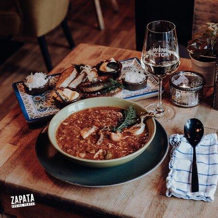 Fischsuppe im Mittagsmenue