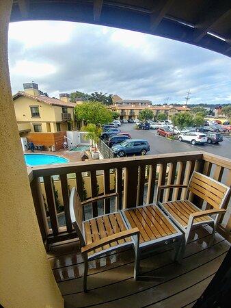 My sun terrace at Hotel Abrego in Monterey, CA (13/Mar/20)