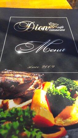 cover of menu