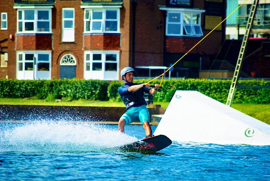 Wakeboarding on Hove Lagoon