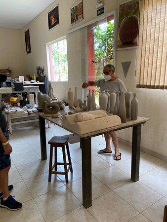 Nossa visita ao Anand Atelier em Brotas