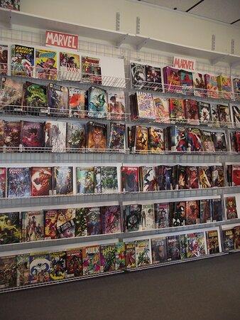 NH - NEWINGTON - STAIRWAY COMICS - WALL DISPLAY OF COMIC BOOKS