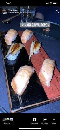 Salmon & unagi nigiri