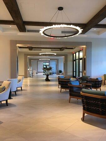 Dramatic lobby