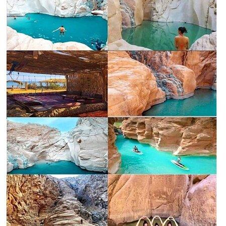 Dahab, Egipto: Вадиващ каньон - между Нувейба и Таба .