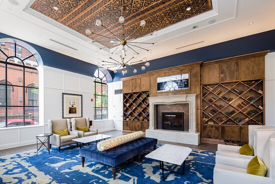 Meet in our library at the Hotel Indigo Baltimore Downtown