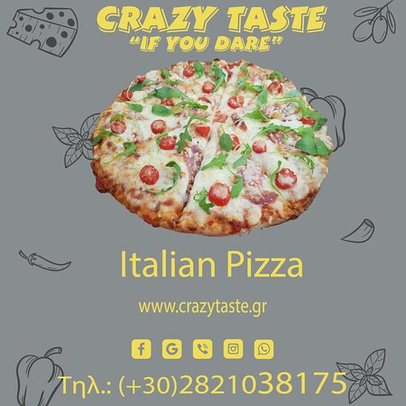 Mozzarella cheese, tomato sauce, proscuitto, small tomatoes, roket!