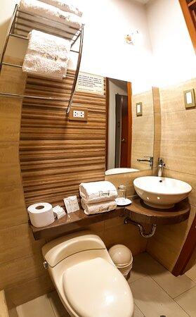 Baño ducha con todos los implementos necesarios