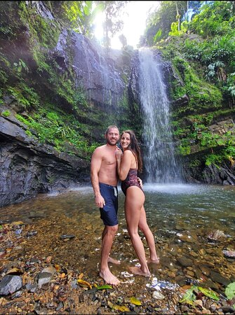 Weekdays are great for an intimate moment at the state Rainforest's waterfalls!