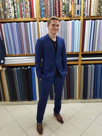 AUTUMN  AND SUMMER ARE ALWASY WELCOME .CUSTOM MIDDLE TONE   FADE BLUE FROM SUIT FITTER