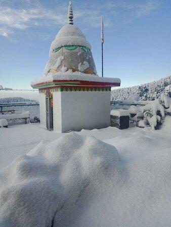 Little courtyard shrine for the mountain goddess