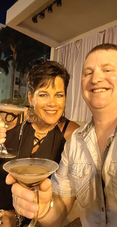 Having a chocolate martini or two during entertainment