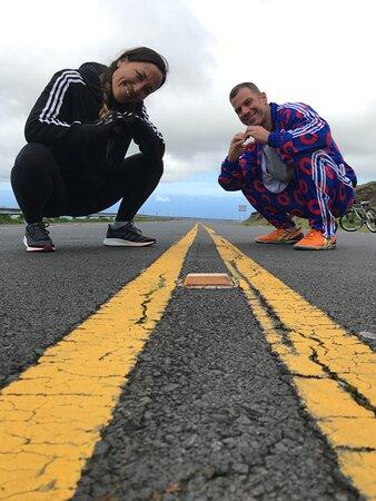 The Original Classic Maui Downhill Bike Tour *9am Group Edition: Never skip a photo op halfway down Haleakala.