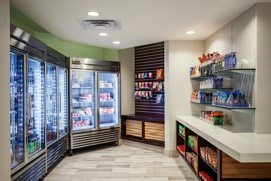 Pick up a snack or sundries at the hotel market
