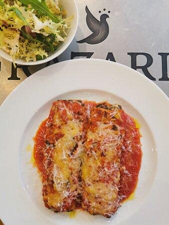 Cannelloni végétarien, ricotta, épinards, passata de tomates et parmesan