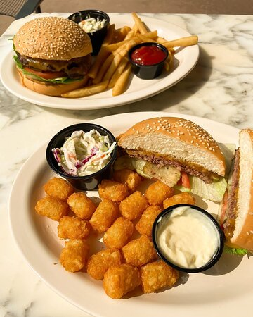More burgers, tater tots and fries