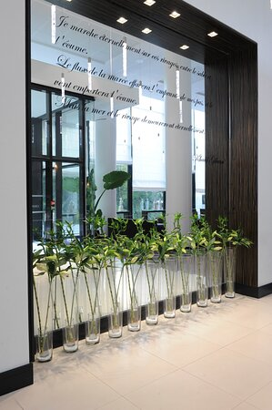 Enjoy the beauty of the entrance of the Crowne Plaza