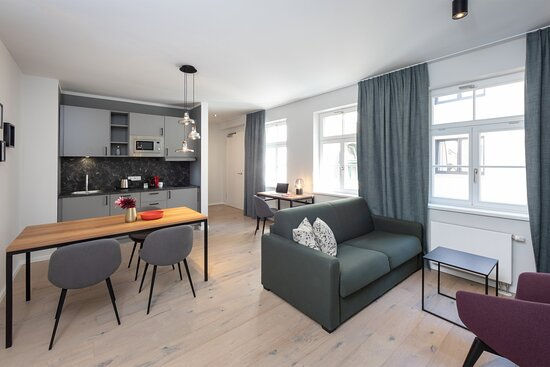 Fantastic Apartment mit voll ausgestatteter Küche. WLAN, Apartmentreinigung und alle Nebenkosten sind in der Rate enthalten.