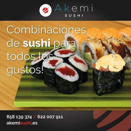 En Akemi nuestra pasión es el sushi, y para que puedas degustarlo como se merece nuestro menú dispone de combinaciones perfectas para todos los gustos. ¡De 10 a 62 piezas! Y siempre casero y preparado en el momento. 😋🍣  Mira nuestros surtidos de sushi: https://akemisushi.es/menu#moriawase