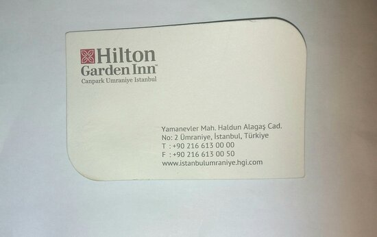 Hotel Business Card.
