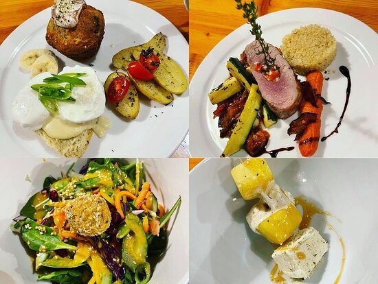 Chef Josef's creations at Purcell Mountain Lodge. Plated 5 star mountain inspired meals.