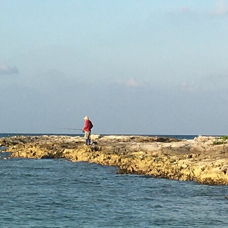 Fishing in front of Cancun Club Med.