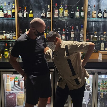 So the Commander is one of the best! We make sure we visit him every night before our dinner reservations! #bartendars Michael