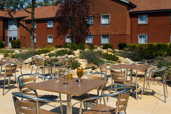 Our lovely garden is great for enjoying some drinks with friends