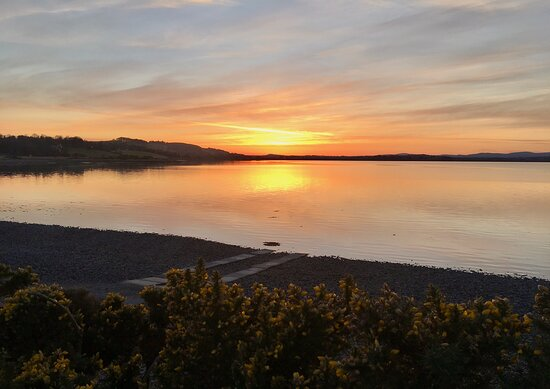 The scenic sunsets at Montrose Basin are worth stopping to observe, as the 🌞 sinks slowly to sleep behind the distant Grampian  ⛰, & the water beautifully reflects the last rays.