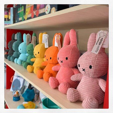 A rainbow of Miffy Soft Toys