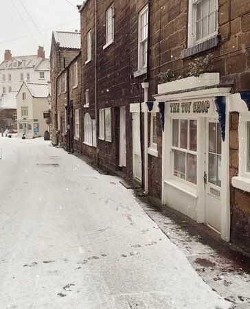 The Toy Shop in the snow