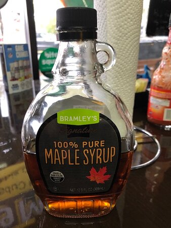 YES !  .....   REAL MAPLE SYRUP !