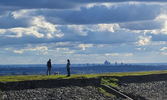 The view into Manchester from the hills above Rochdale
