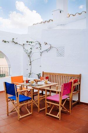 Ciudadela, España: Terraza habitación doble