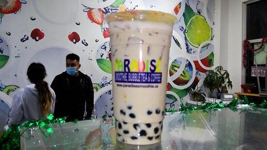 Boba Milk Tea in Fort Myers. Bubble Near Me. Paradise Smoothie Bubble Tea Coffee. #paradisesmoothie #bubbletea #bobatea #gctc