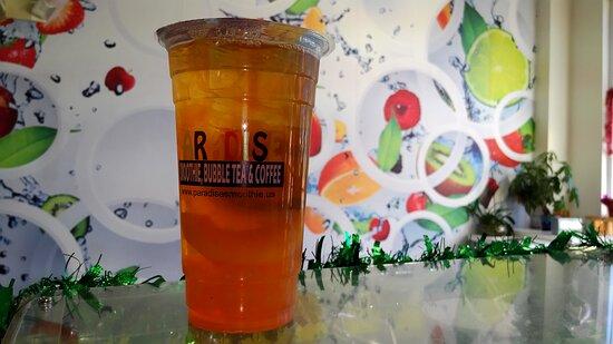 Raspberry Fruit Tea in Fort Myers. Bubble Near Me. Paradise Smoothie Bubble Tea Coffee. #paradisesmoothie #bubbletea #bobatea #gctc #franchise #bobateanearme #bubbleteanearme