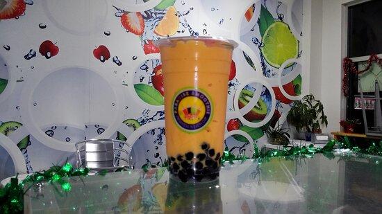 Orange Smoothie in Fort Myers. Bubble Near Me. Paradise Smoothie Bubble Tea Coffee. #paradisesmoothie #bubbletea #bobatea #gctc #franchise #bobateanearme #bubbleteanearme