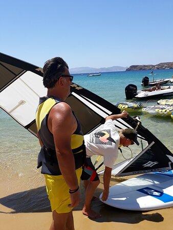 Joe's brought the set for windsurf