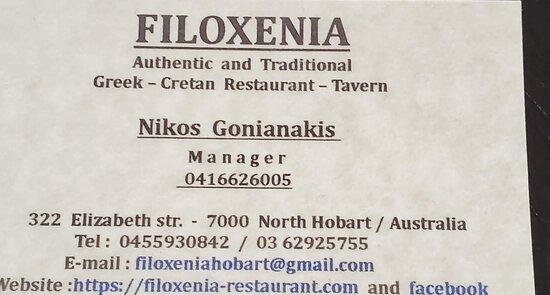 Details of the restaurant