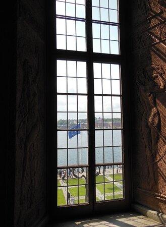 Vista da una delle finestre del Municipio
