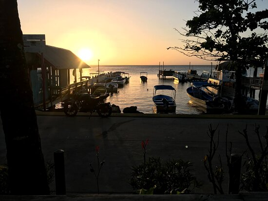 View from the Dive Shop at sun up