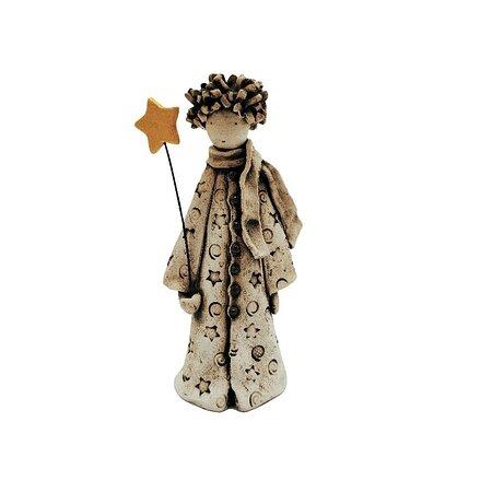 Ceramic little prince, decorative handmade object.