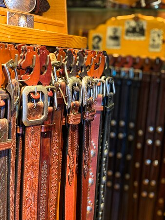 Beautiful, unique leather belts, best reputation on the west!  Come and take a look at all our leather goods!
