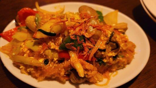 鶏肉と春雨のチリソース炒め(750円)